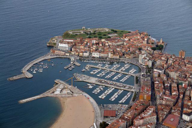 Vista aerea de Gijón