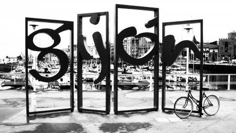 Letronas blanco&negro + bici