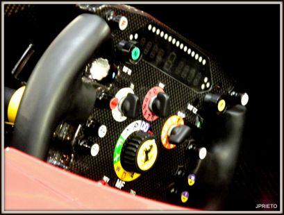 El volante del Ferrari