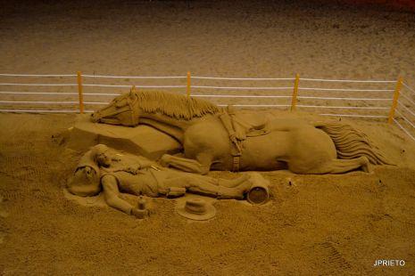 Arte en la arena.