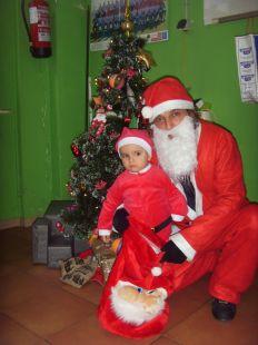 Visita de Papá Noel a la Ludoteca de Aarón, 24/12/2012