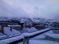 Langreo amanece cubierto de nieve