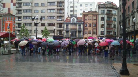 Protesta en Gijón