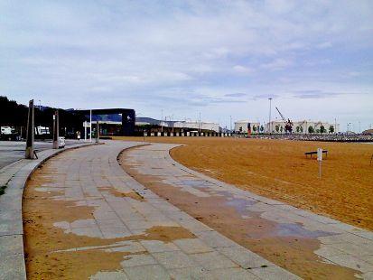 arena con cemento