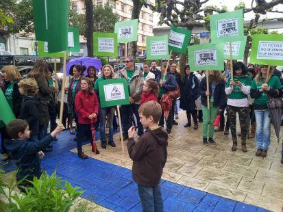 Protesta en Navia
