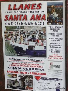 Fiestas de Sta ANA en Llanes, Fiestas de los Marineros