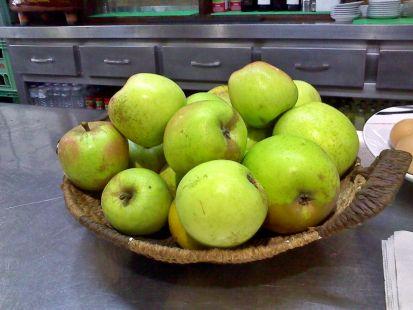 pañando manzana
