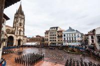 Jura de Bandera en la Plaza de la Catedral de Oviedo. Viernes 15 de Noviembre de 2013