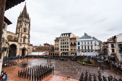 Jura de Bandera Plaza de la Catedral de Oviedo. 15 de Noviembre 2013