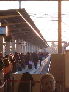 Tren Asturias - Madrid en el puente de la constitución