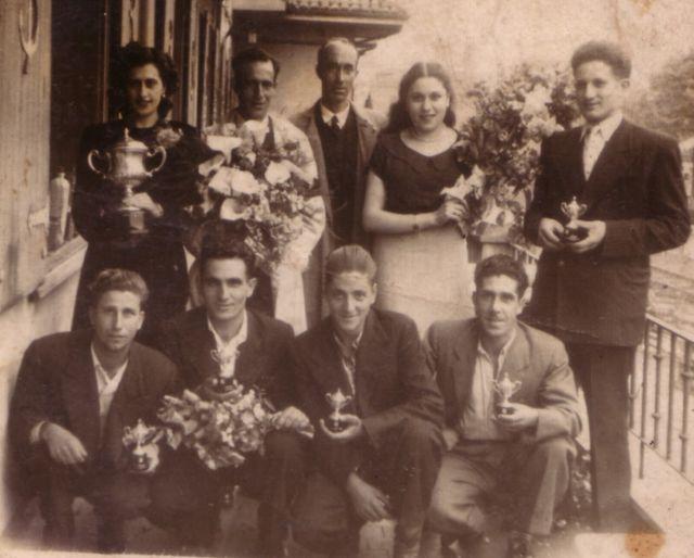 año 1950, un grupo de avilesinos grnaron el campeonato de España de remo