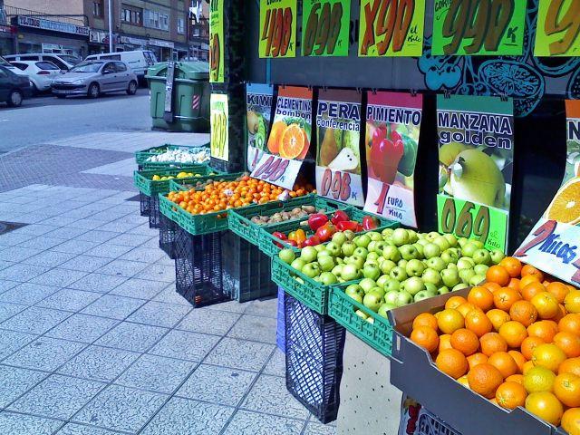 fruta en la calle