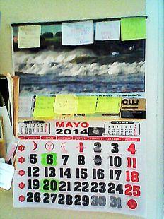 marea en el calendario