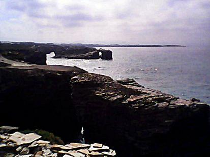 atardecer en la costa de Barreiros