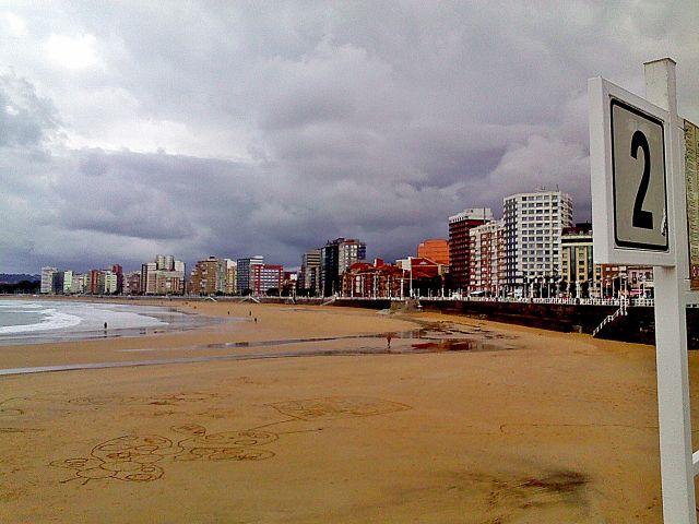 la playa desde la dos