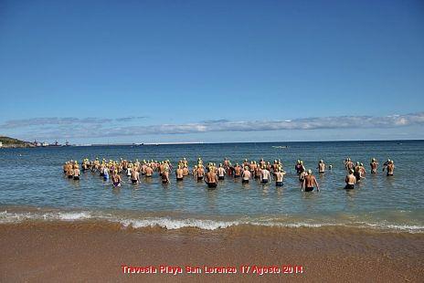 Travesia a nado de la playa san lorenzo