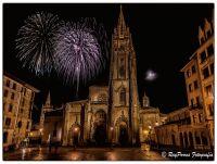 Catedral y fuegos